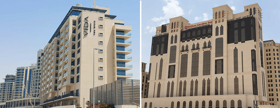 EMAAR HILLS DEVELOPMENT BUILDING PROJECT (THE HILLS, DUBAI), HILTON GARDEN INN HOTEL (AL JADDF,DUBAI)
